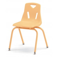 """Berries® Stacking Chair with Powder-Coated Legs - 16"""" Ht - Camel"""