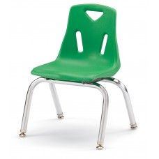 """Berries® Stacking Chair with Chrome-Plated Legs - 12"""" Ht - Green"""