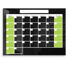 Black Magnetic Glass Calendar Board 1.5X2