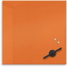 "Mosaic Magnetic Glass Markerboard - Orange (16X16"")"