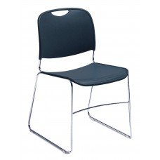Navy Blue Hi-Tech Ultra-Compact Plastic Seat/Back Stack Chairs