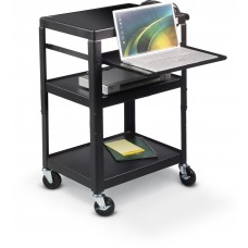 Adj Laptop Cart (Black)