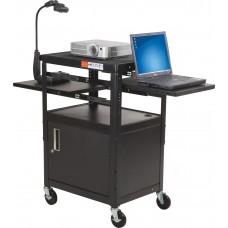 Dual Adj Laptop Cart (Black)