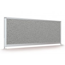 "Desktop Privacy Panel - 48"" Pebbles Vinyl Lt Quarry"