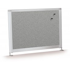 "Desktop Privacy Panel - 21.5"" Pebbles Vinyl Lt Quarry"
