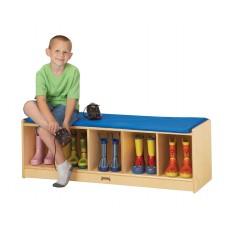 Jonti-Craft® 5 Section Bench Locker - Camel Cushion