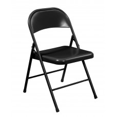 Black All-Steel Commercialine Folding Chairs Carton of 4