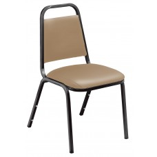 French Beige  Standard Vinyl Upholstered Padded Stack Chairs
