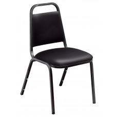 Panther Black Standard Vinyl Upholstered Padded Stack Chairs