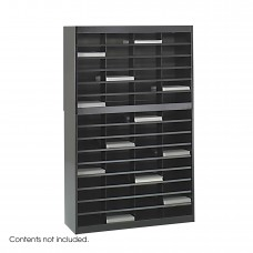 E-Z Stor® Literature Organizer, 60 Letter Size Compartments - Black