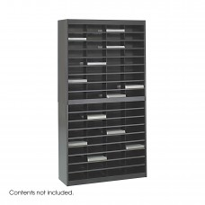 E-Z Stor® Literature Organizer, 72 Letter Size Compartments - Black