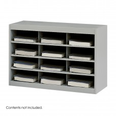 E-Z Stor® Steel Project Organizer, 12 Compartments - Gray