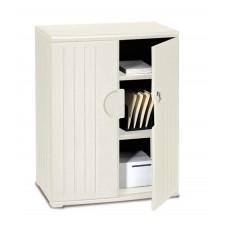 "OfficeWorks 46"" Storage Cabinet - Platinum"
