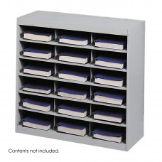 E-Z Stor® Steel Project Organizer, 18 Compartments - Gray