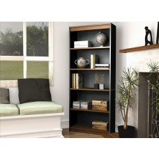 Innova Bookcase in Tuscany Brown & Black