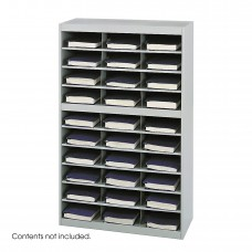 E-Z Stor® Steel Project Organizer, 30 Compartments - Gray