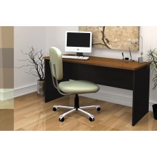 Innova Executive Desk in Tuscany Brown & Black