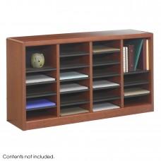 E-Z Stor® Wood Literature Organizer, 24 Compartments - Cherry