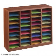 E-Z Stor® Wood Literature Organizer, 36 Compartments - Cherry