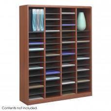 E-Z Stor® Wood Literature Organizer, 60 Compartments - Gray