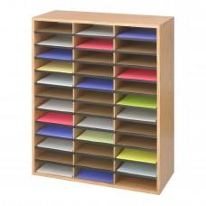 Wood/Corrugated Literature Organizer, 36 - Medium Oak