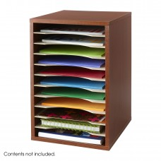 Vertical Desk Top Sorter - 11 Compartment - Cherry