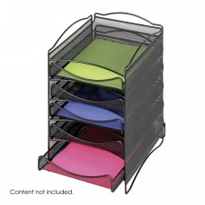 Onyx™ 5 Drawer Mesh Literature Organizer - Black