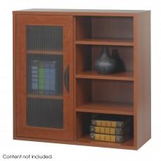 Apres™ Modular Storage Single Door/ Open Shelves - Cherry