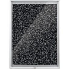 Enclosed Bulletin Board - 2X3 - Black Rubbertak