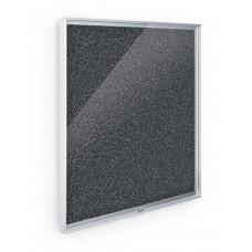 Enclosed Bulletin Board - 3X4 - Black Rubbertak