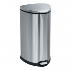 Stainless Step-On 10 Gallon Receptacle - Stainless Steel