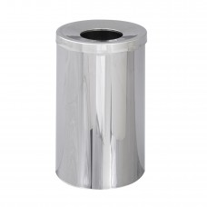 Reflections By Safco® Open Top Receptacle - Chrome
