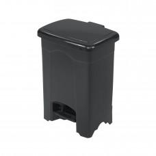 Plastic Step-On Receptacle, 4-Gallon - Black
