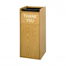 Wood Food Court Receptacle - Medium Oak