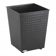 Checks Wastebasket (Qty. 3) - Black