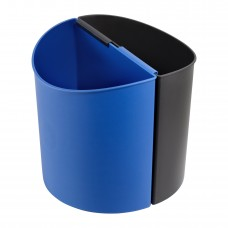 Desk-Side Recycling Receptacle-SM - Black/Blue