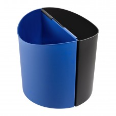 Desk-Side Recycling Receptacle-LG - Black/Blue