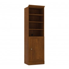 Versatile by Bestar 25'' Storage Unit with door in Tuscany Brown