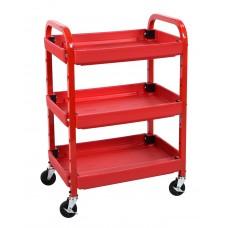 Luxor 3 Shelf Utility Cart Red