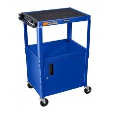 "Luxor Blue 42"" Adj Height Cart w/ Cabinet"