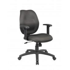 Black Task Chair W/ Adjustable Arms