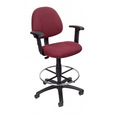 Drafting Stool (B315-BY) W/Footring And Adjustable Arms