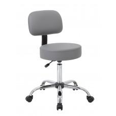 Grey Caressoft Medical Stool W/ Back Cushion