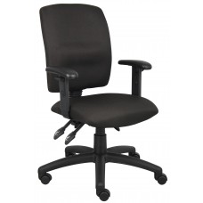 Multi-Function Fabric Task Chair W/ Adjustable Arms
