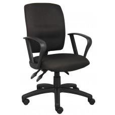 Multi-Function Fabric Task Chair W/Loop Arms