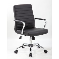 Retro Task Chair with Chrome Fixed Arms