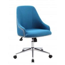 Carnegie Desk Chair - Peacock Blue