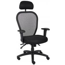 Mesh Chair W/3 Paddle Mech & Headrest