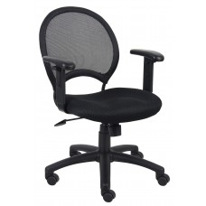 Mesh Chair With Adjustable Arms