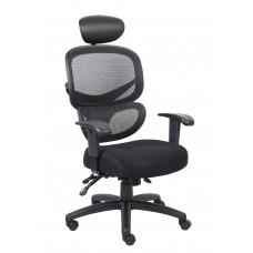 Multi-Function Mesh Task Chair w/Headrest